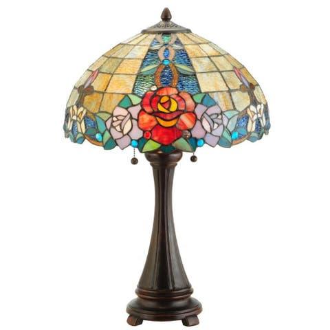 25-inch Rose Vine Table Lamp