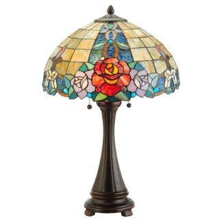 25-inch Rose Vine Table Lamp