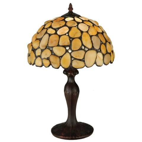 19.5-inch Jasper Yellow Table Lamp