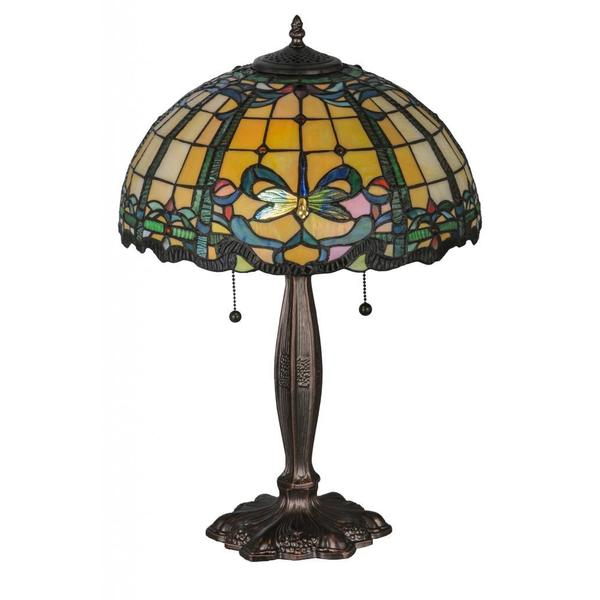 24 Inch Tiffany Style Dragonfly Table Lamp