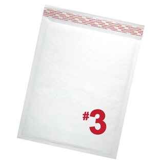 Size #3 Self-seal White Kraft Bubble Mailers