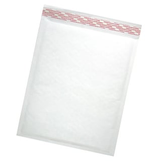 Size #00 Self-seal White Kraft Bubble Mailers