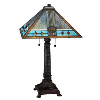 Buy hardwired table lamps online at overstock our best 26 inch mission rose table lamp keyboard keysfo Images