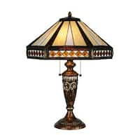 26.5-inch Diamond Mission Table Lamp - Mahogany Bronze - 26.5