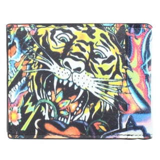 YL Fashion 'Ed Tiger and Calra' Men's Leather Bi-fold Wallet