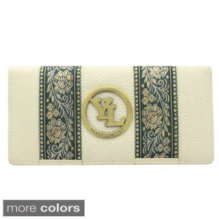 YL Fashion Women's Leather Accordion Wallet