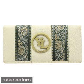 YL Fashion Women's Leather Accordion Wallet