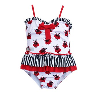 Azul Swimwear Toddler Girl's 'Miss Nerdy Bug' One-piece Swimsuit