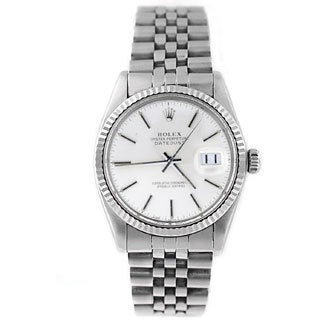 Pre-Owned Rolex Men's Datejust 16014 Stainless Steel Silver Stick Watch