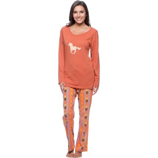 Aegean Apparel Women's Cowgirl Printed PJ Set