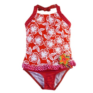 Azul Swimwear Girl's 'Orange You Glad' Tankini Swimsuit
