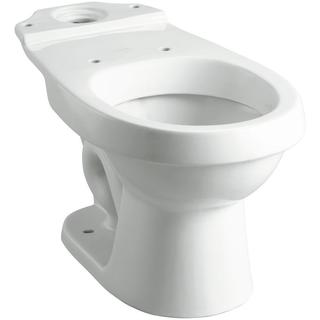 Rockton/Karsten Dual Flush Round Toilet Bowl Only in White