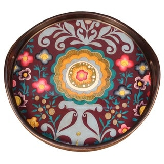 Rabat Purple Blue Pink Yellow Round Tray
