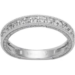 Link to 14k White Gold 1/ 4ct TDW Diamond Wedding Ring with Scroll Details Similar Items in Wedding Rings