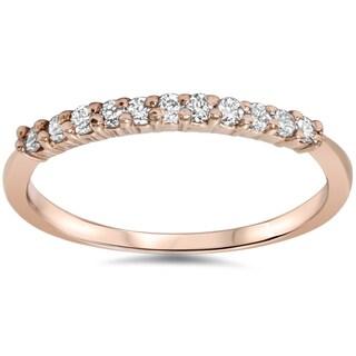 14k Rose Gold 1/4ct TDW Diamond Wedding Band (I-J, I2-I3)