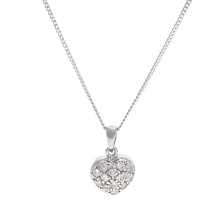 Alexa Starr Cubic Zirconia Heart Pendant Necklace with Red Gift Box