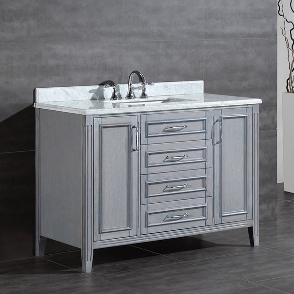 48 vanity with sink. OVE Decors Daniel 48 Inch Single Sink Bathroom Vanity With Marble Top