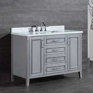 Attrayant OVE Decors Daniel 48 Inch Single Sink Bathroom Vanity With Marble Top
