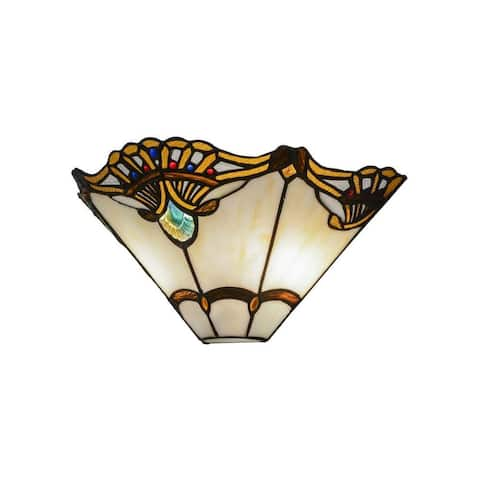 14.5-inch Shell with Jewels Wall Sconce