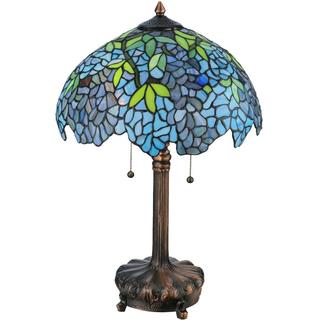 25-inch Tiffany-style Wisteria Table Lamp