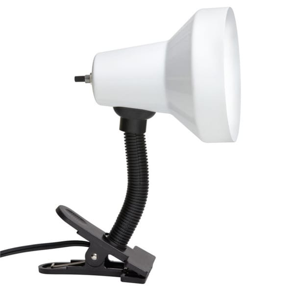 Single-light Gooseneck Clip-on Lamp