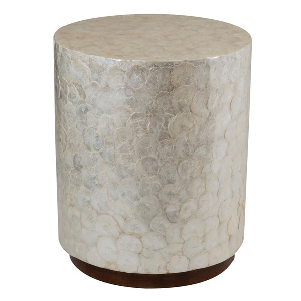 Decorative Off White Elegant Sleek Round End Table