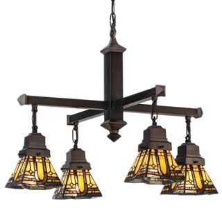 25.5-inch Sierra Prairie Mission 4-light Chandelier