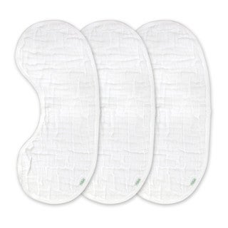 Green Sprouts Brights Organic Muslin Burp Pad 3 Pack - White Set