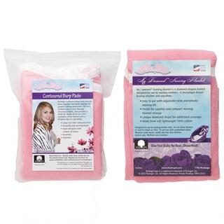 NuAngel Pink Nursing Blanket/ Burp Pad Set