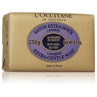 L'Occitane Shea Butter Extra Gentle 8.8-ounce Lavender Soap https://ak1.ostkcdn.com/images/products/9535872/P16715211.jpg?_ostk_perf_=percv&impolicy=medium