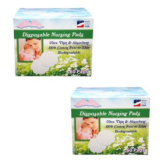 NuAngel All-natural Cotton Biodegradable Cotton Nursing Pads
