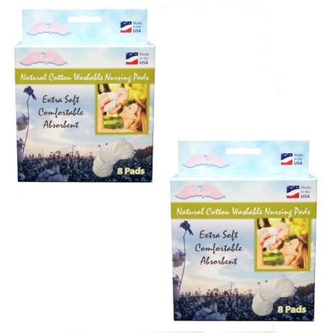 NuAngel All-natural Cotton Washable Nursing Pads
