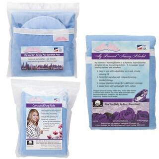 NuAngel Flip and Go Blue Nursing Pad/ Blanket/ Contoured Burp Pad Set