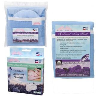 NuAngel Flip and Go Blue Nursing Pad Case Set