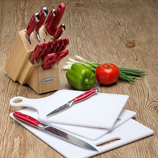 Farberware Pro Forged 15-piece Cutlery Set With 3 Bonus Cutting Boards