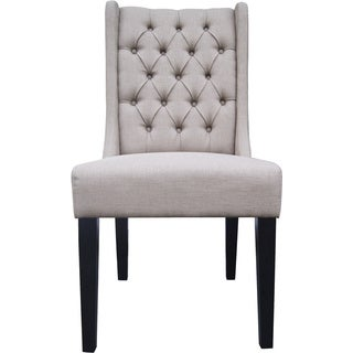 Aurelle Home Chateau Chair w/ Tufts (Set of 2)