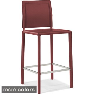 Aurelle Home Leather Counter Stool