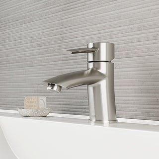 VIGO Bova Bathroom Single Hole Faucet in PVD Brushed Nickel
