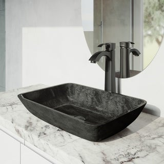 VIGO Otis Bathroom Vessel Faucet in Matte Black