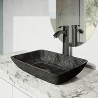 VIGO Otis Matte Black Vessel Bathroom Faucet