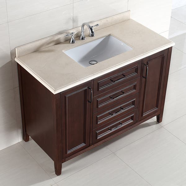 Ove Decors Daniel 48 Inch Single Sink Bathroom Vanity With Marble Vanity Top Overstock 9536002