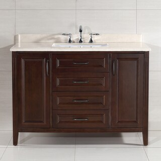 OVE Decors Daniel 48-inch Single Sink Bathroom Vanity with Marble Vanity Top