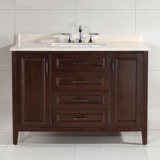 Ove Decors Daniel 48 Inch Single Sink Bathroom Vanity With Marble Top