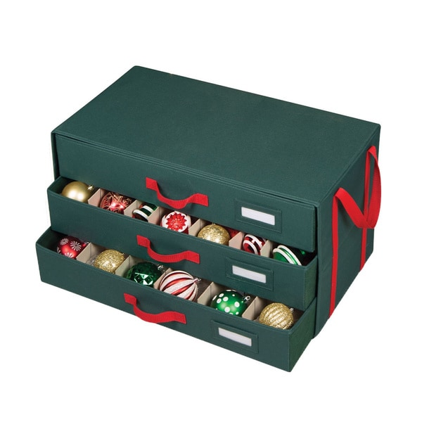 Richards Homewares 3 Drawer 63 Cell Holiday Ornament Storage Chest