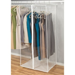 Richards Homewares Clear Vinyl Storage Jumbo Maxi Rack Dress Garment Cover