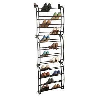 SHOE/BRONZE 36 Pair shoe rack Over the Door