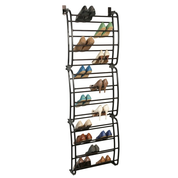 Charmant Shop SHOE/BRONZE 36 Pair Shoe Rack Over The Door   Free Shipping On Orders  Over $45   Overstock   9536099