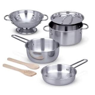 Melissa & Doug Let's Play House! Stainless Steel Pots & Pans Play Set|https://ak1.ostkcdn.com/images/products/9536120/P16714514.jpg?impolicy=medium