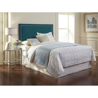 Shop Clermont King Size Upholstered Blue Headboard Free