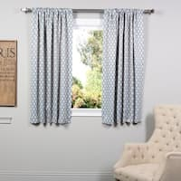 Exclusive Fabrics Casablanca Teal 63-inch Blackout Curtain Panel Pair - 50 x 63